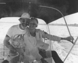 Jerry Wexler and Bonnie going fishing