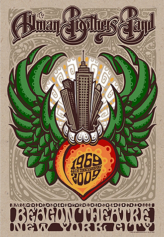 Allman Brothers Band 40th anniversary poster