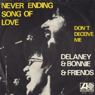 Picture sleeve for Never Ending Song Of Love
