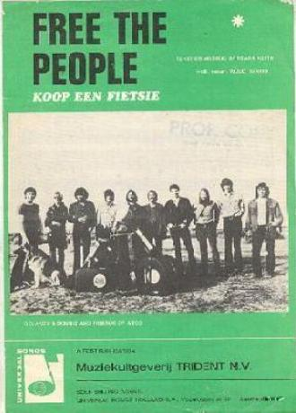 Sheet music cover for Free The People (Dutch)