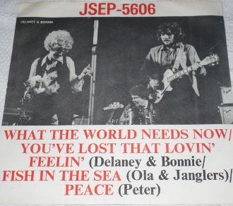 Picture sleeve for What The World Need Now